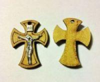 Крестик деревянный с металлическим распятием